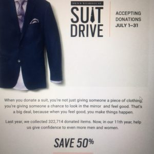 Suits 50% off till end of July